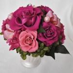 プリザーブドフラワー 贈り物 赤紫 アンティーク いわもとプリはな 福井市