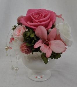 プリザーブドフラワー 贈り物 ピンク いわもとプリはな 福井市