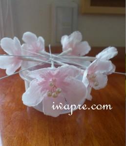 いわもとプリはな 桜のプリザーブドフラワー ただいま加工中♪