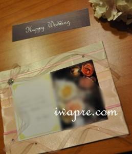 いわもとプリはなご結婚御祝いのオーダー品のためのカードです