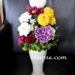 ダリアとカーネーションが美しい仏花 いわもとプリはなオーダー商品