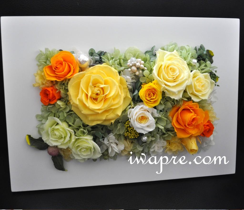 結婚式での贈呈花 新婦様がいわもとプリはなのオリジナルレッスンで仕上げられました。