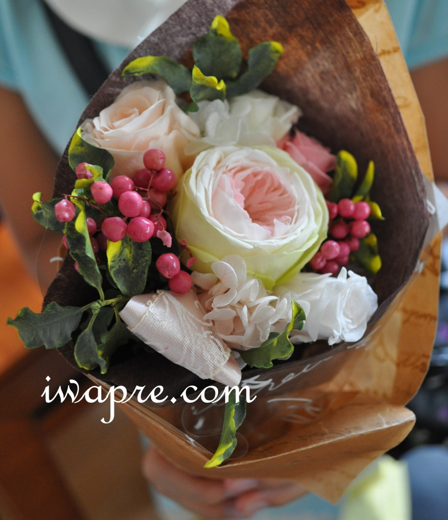 プリザーブドフラワーのミニ花束