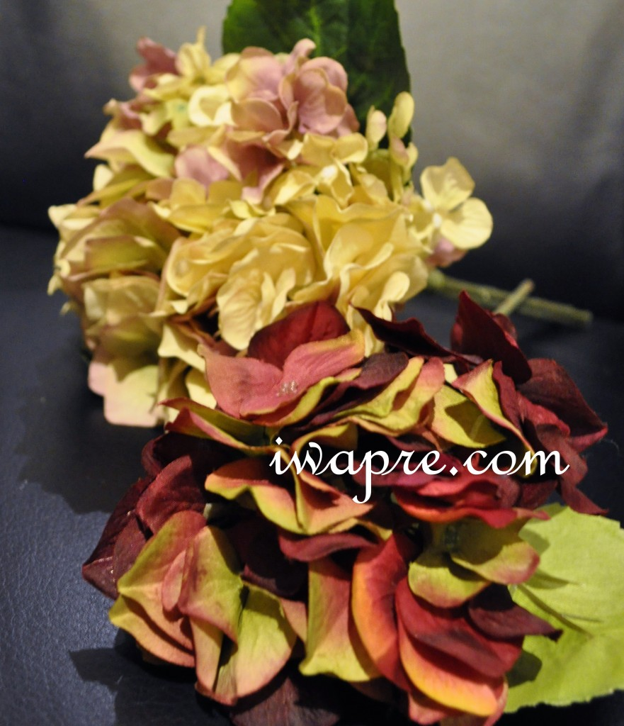 アーティフィシャルの秋色紫陽花