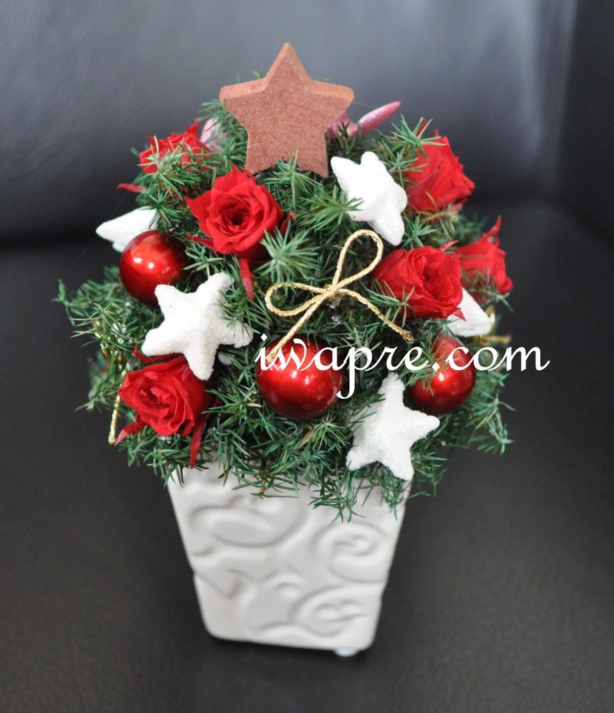 いわもとプリはな プリザで作るクリスマスツリー