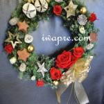 プリザーブドフラワーで作るクリスマス商品